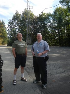 Outside the Coquitlam Amateur Radio Club